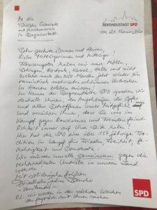 SPD spricht Mitgefühl aus