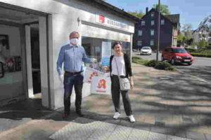 SPD verteilt 300 Schutzmasken an ambulante Pflegedienste und Physiopraxen