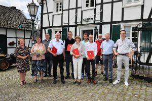 Ehrung von vier SPD Mitgliedern
